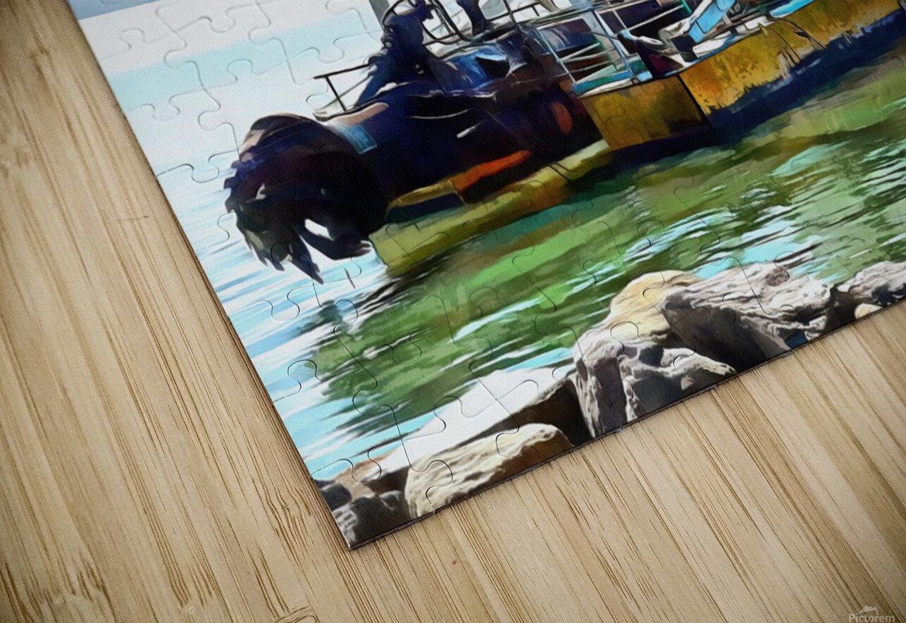Lake Dredger at Passignano Sul Lago HD Sublimation Metal print