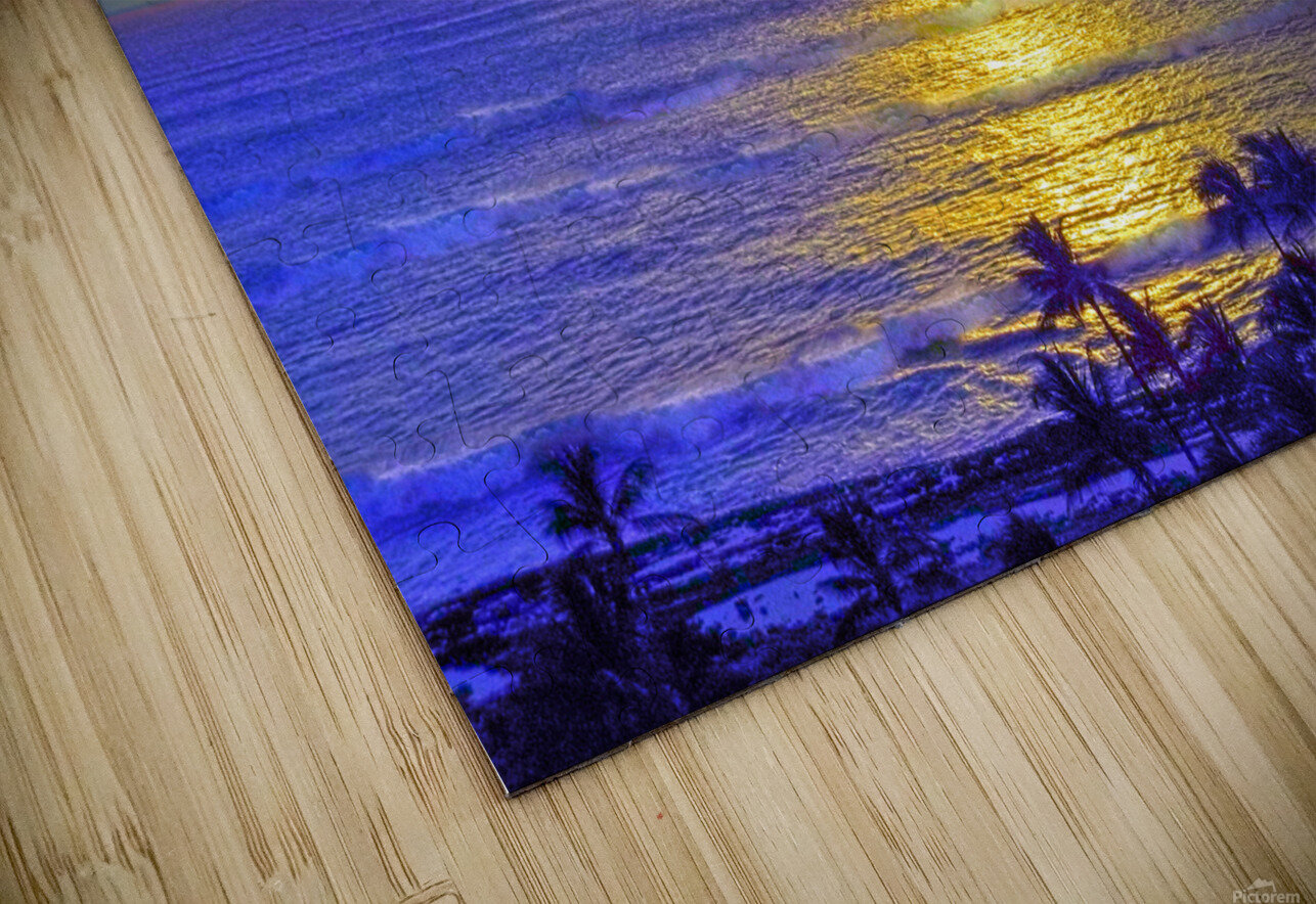 Golden Sunset After the Storm HD Sublimation Metal print