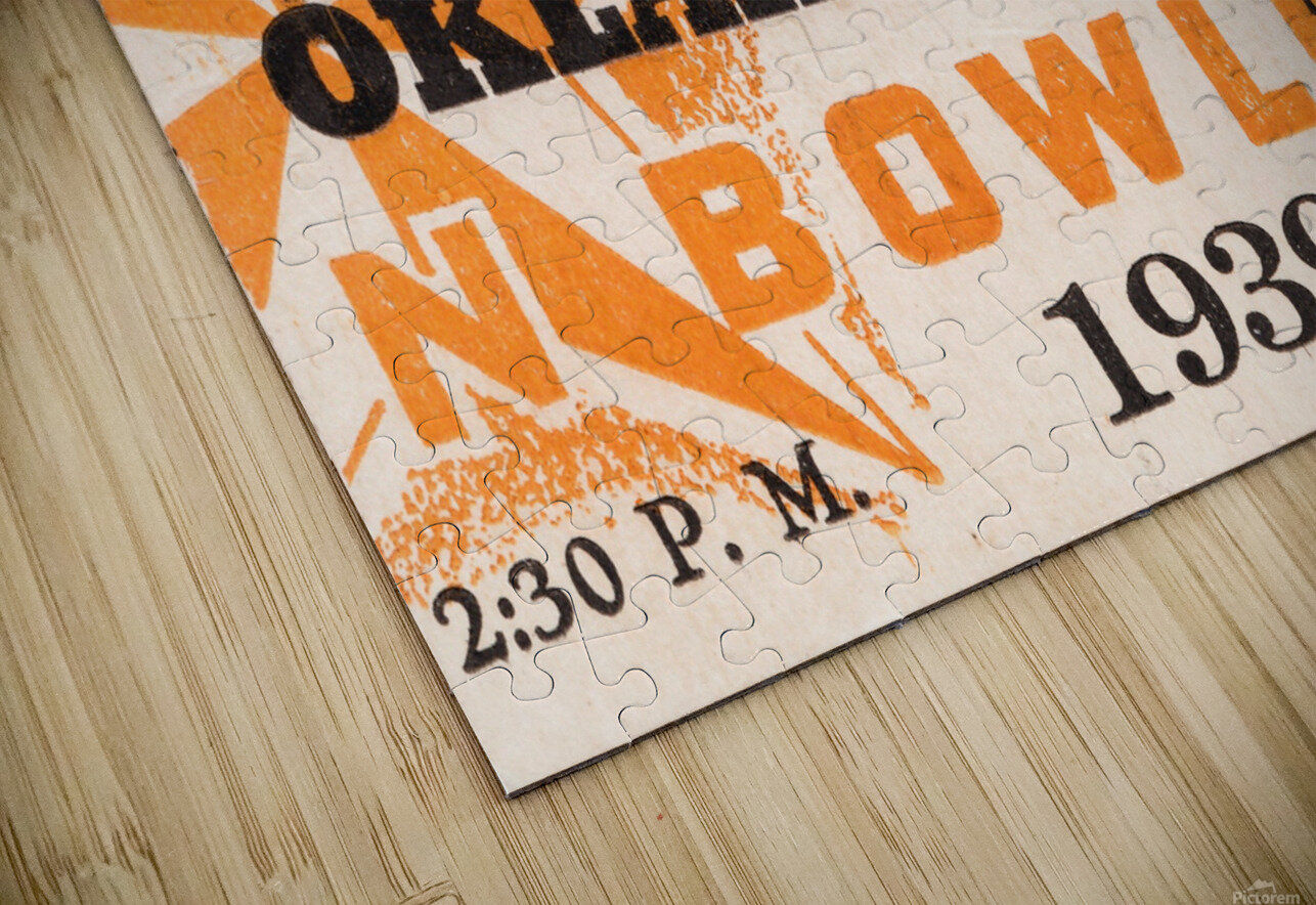 1939 Texas Longhorns vs. Oklahoma Sooners HD Sublimation Metal print