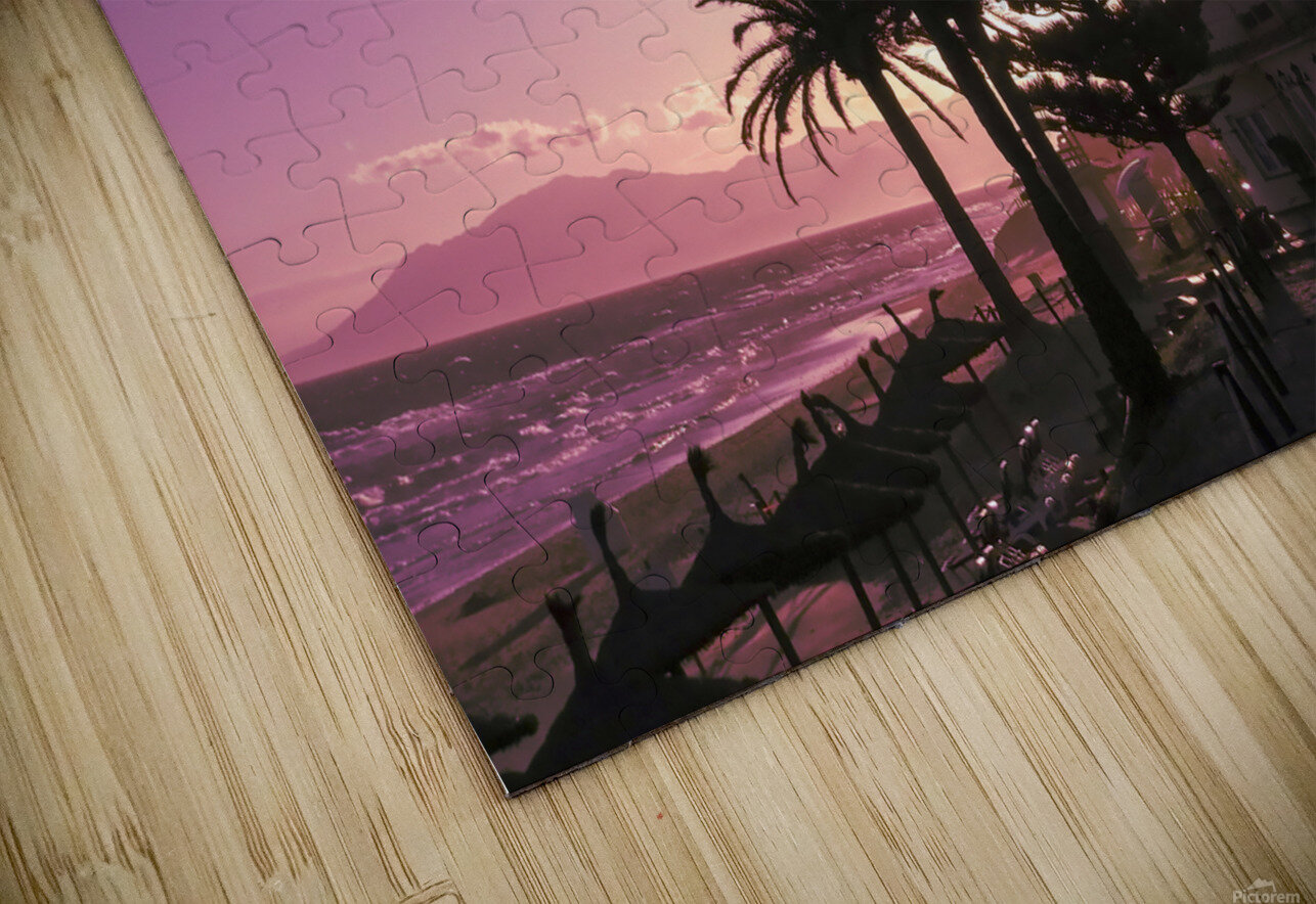 Sunset Costa Del Sol Spain HD Sublimation Metal print
