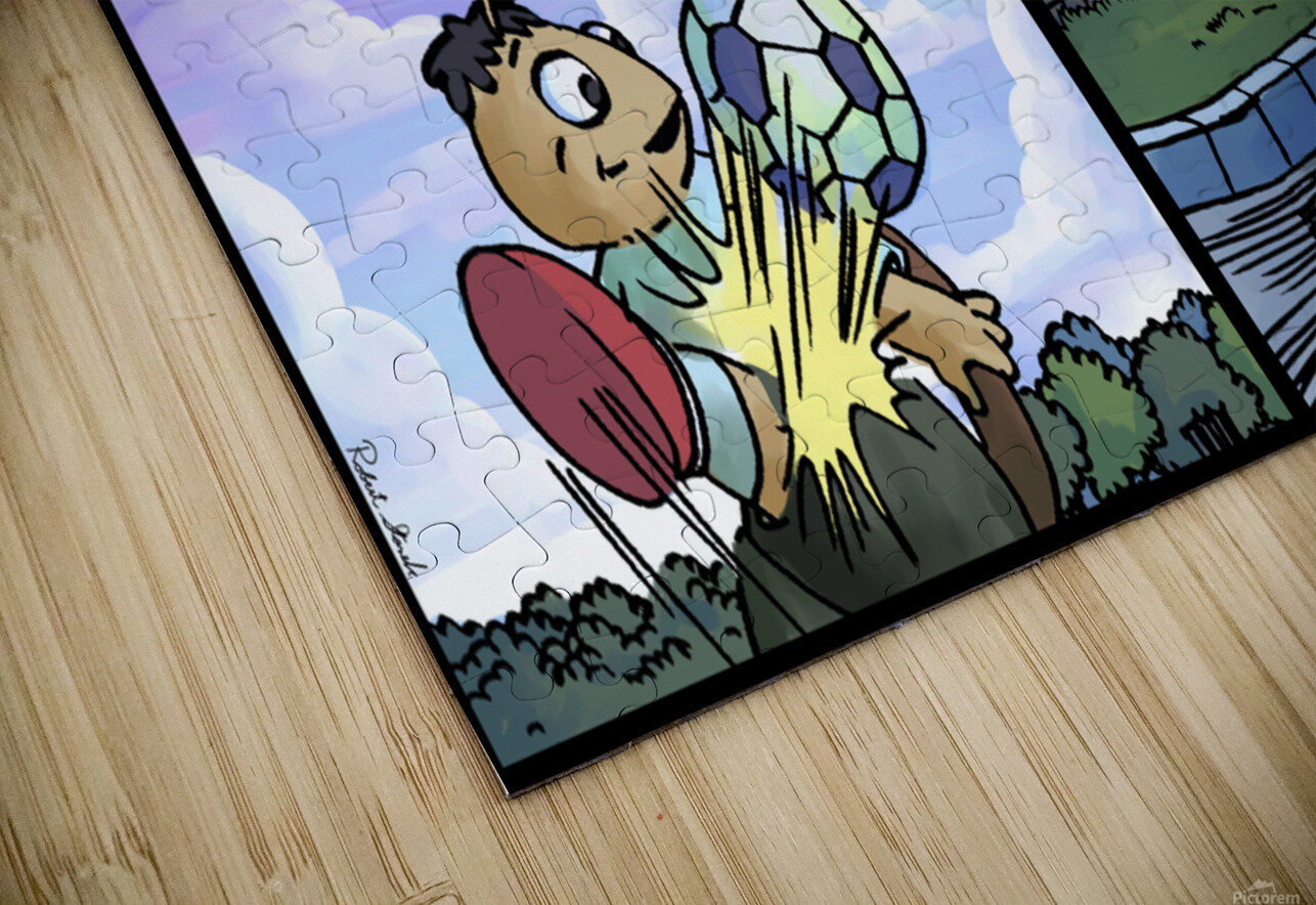 Barry the Beetle in Action   4 panel Favorites for Kids Room and Nursery   Bugville Critters HD Sublimation Metal print