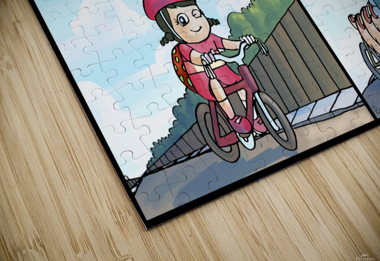 Time for a Bike Ride   Best Friends   4 panel Favorites for Kids Room and Nursery   Bugville Critters HD Sublimation Metal print