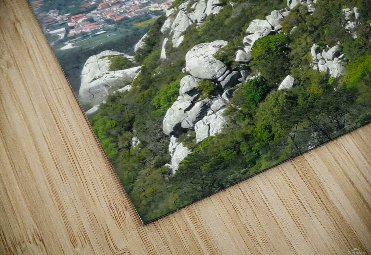 Castelo dos Mouros - Castle of the Moors - Sintra Portugal HD Sublimation Metal print