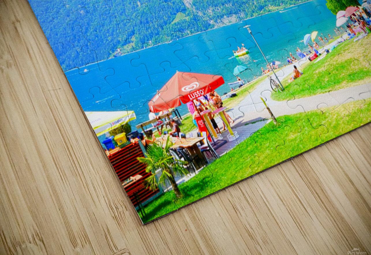 Snapshot in Time Walensee - Lake Walen Switzerland 1 of 3 HD Sublimation Metal print