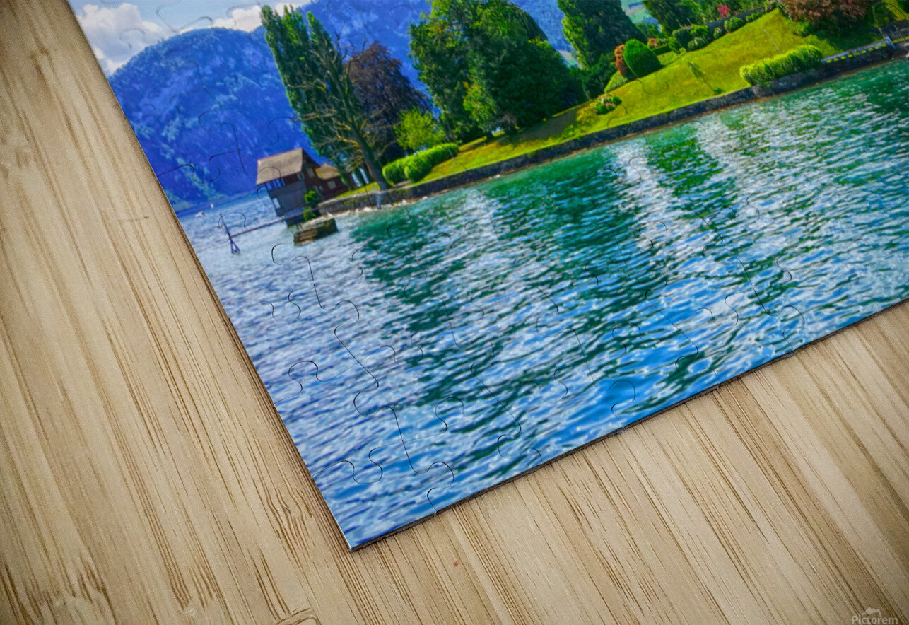 Perfect Day on the shores of Lake Lucerne Switzerland HD Sublimation Metal print