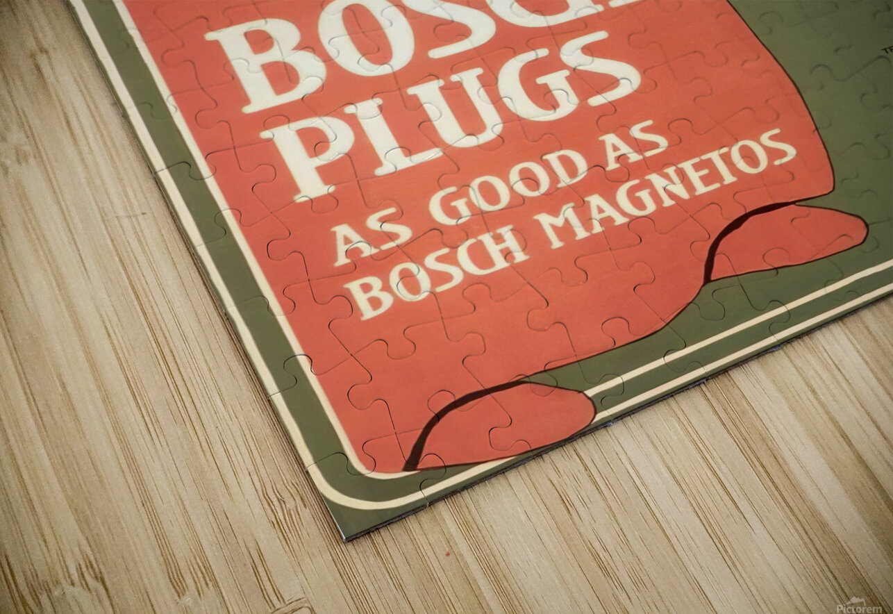 Vintage Bosch Spark Plugs Advertising Poster HD Sublimation Metal print