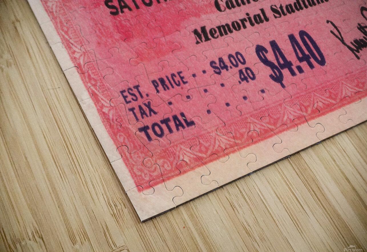 1938 Stanford Indians vs. Cal Bears Big Game Ticket Stub Art HD Sublimation Metal print