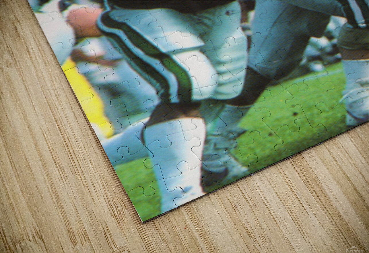1987 Ohio Bobcats Retro Football Poster HD Sublimation Metal print