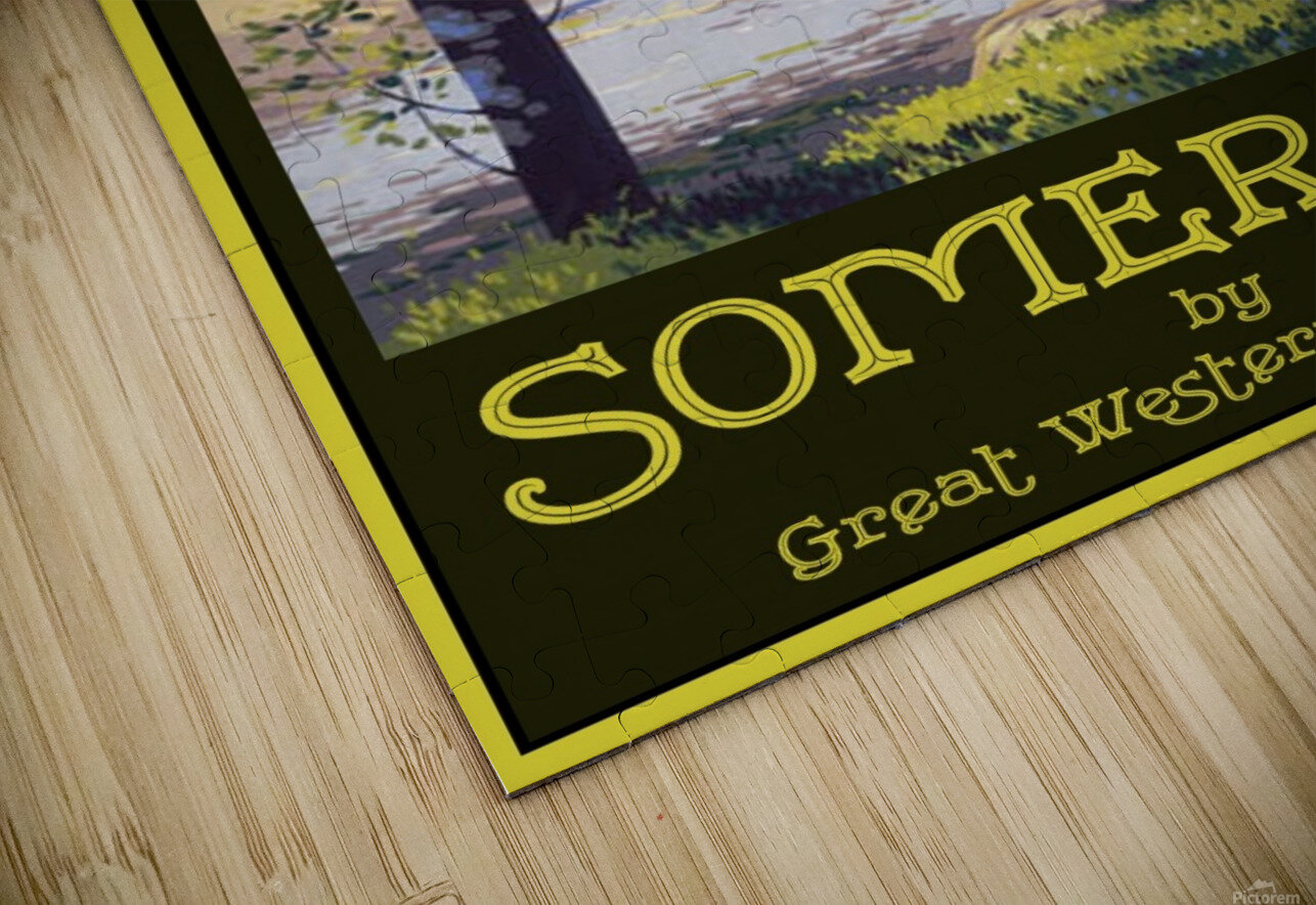 Great Western Railway Somerset travel poster HD Sublimation Metal print