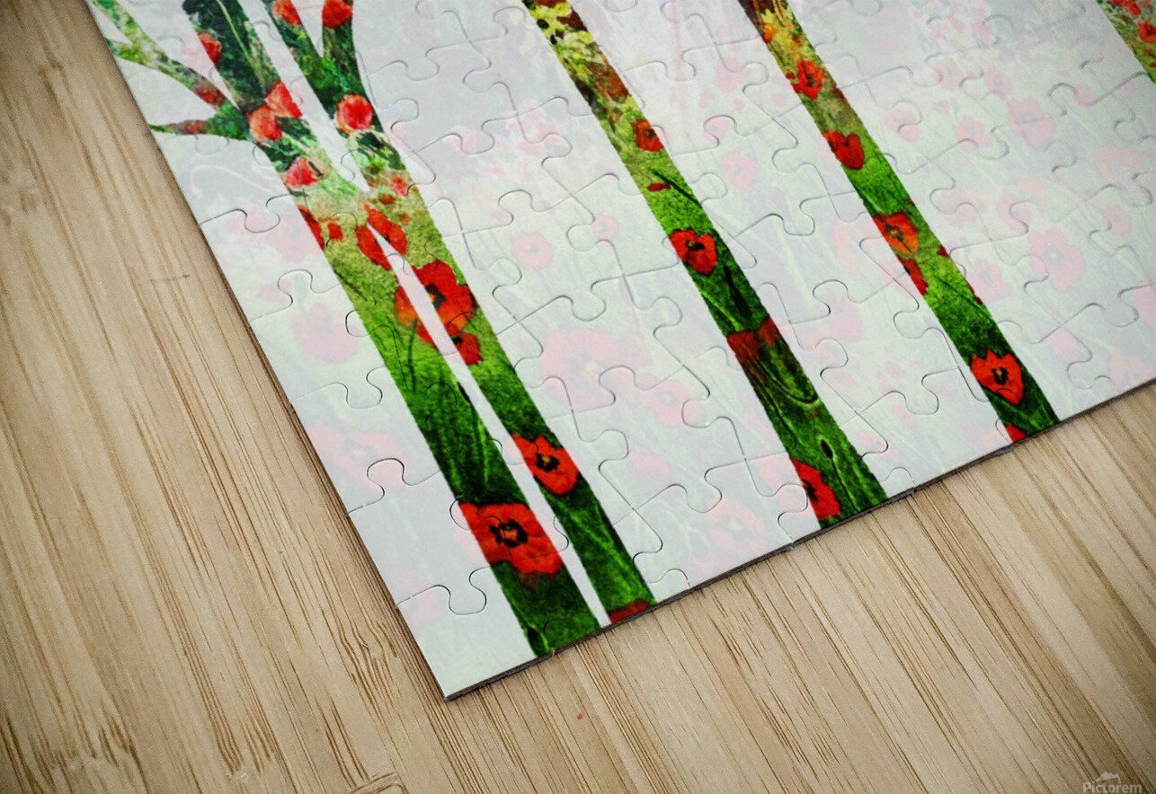 Watercolor Forest Silhouette Summer HD Sublimation Metal print