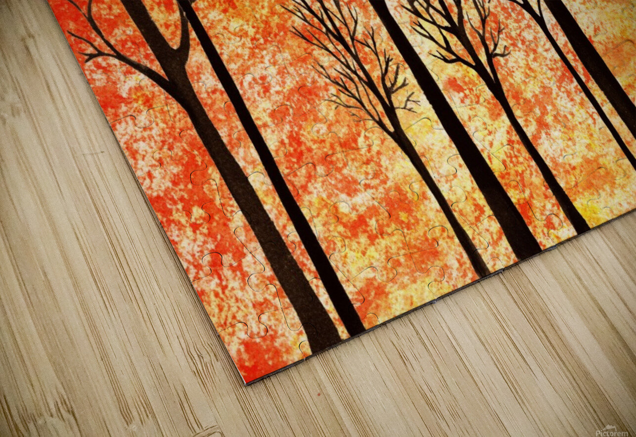 Autumn Forest Abstract  HD Sublimation Metal print