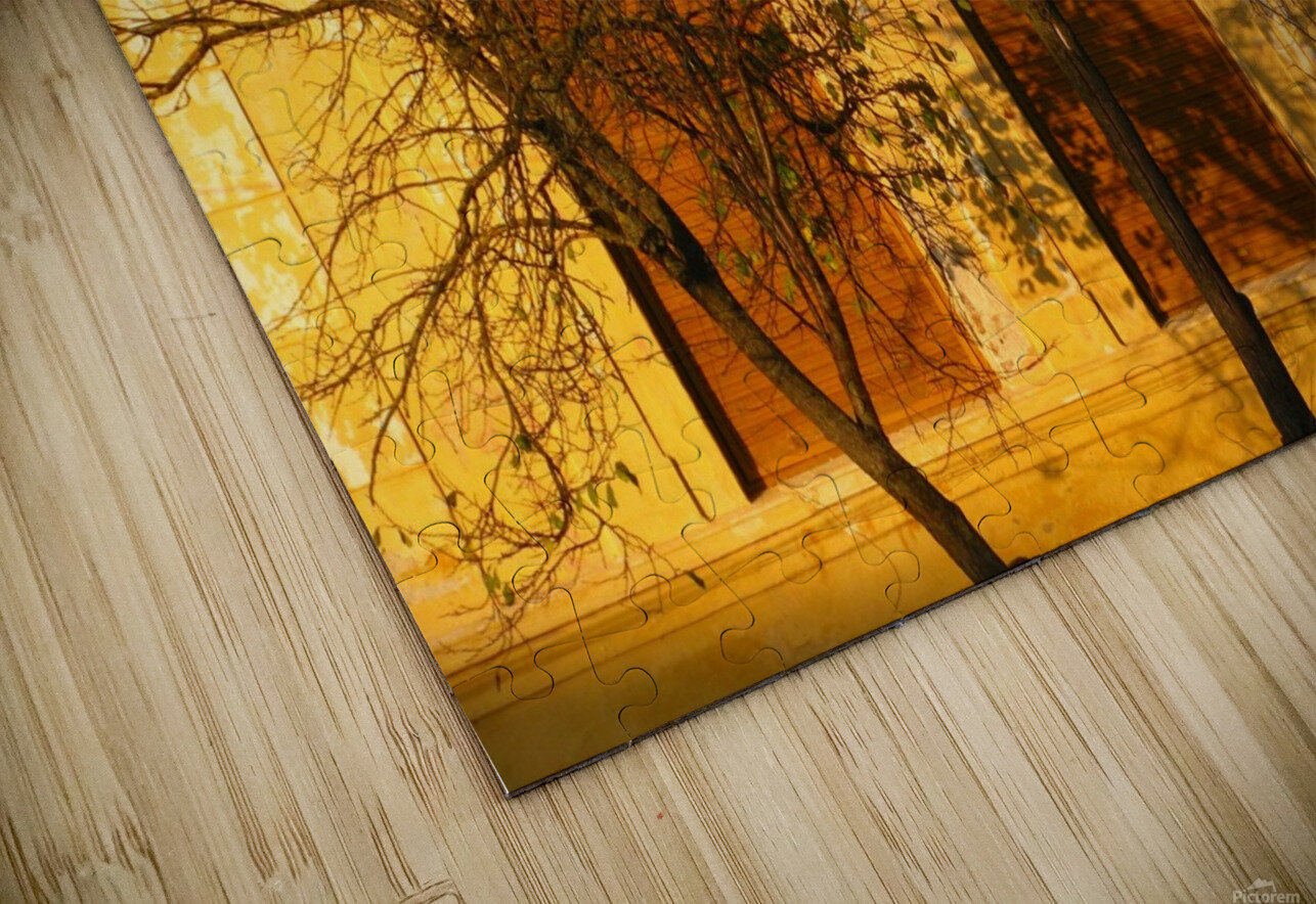 Autumn day in old town Varias HD Sublimation Metal print