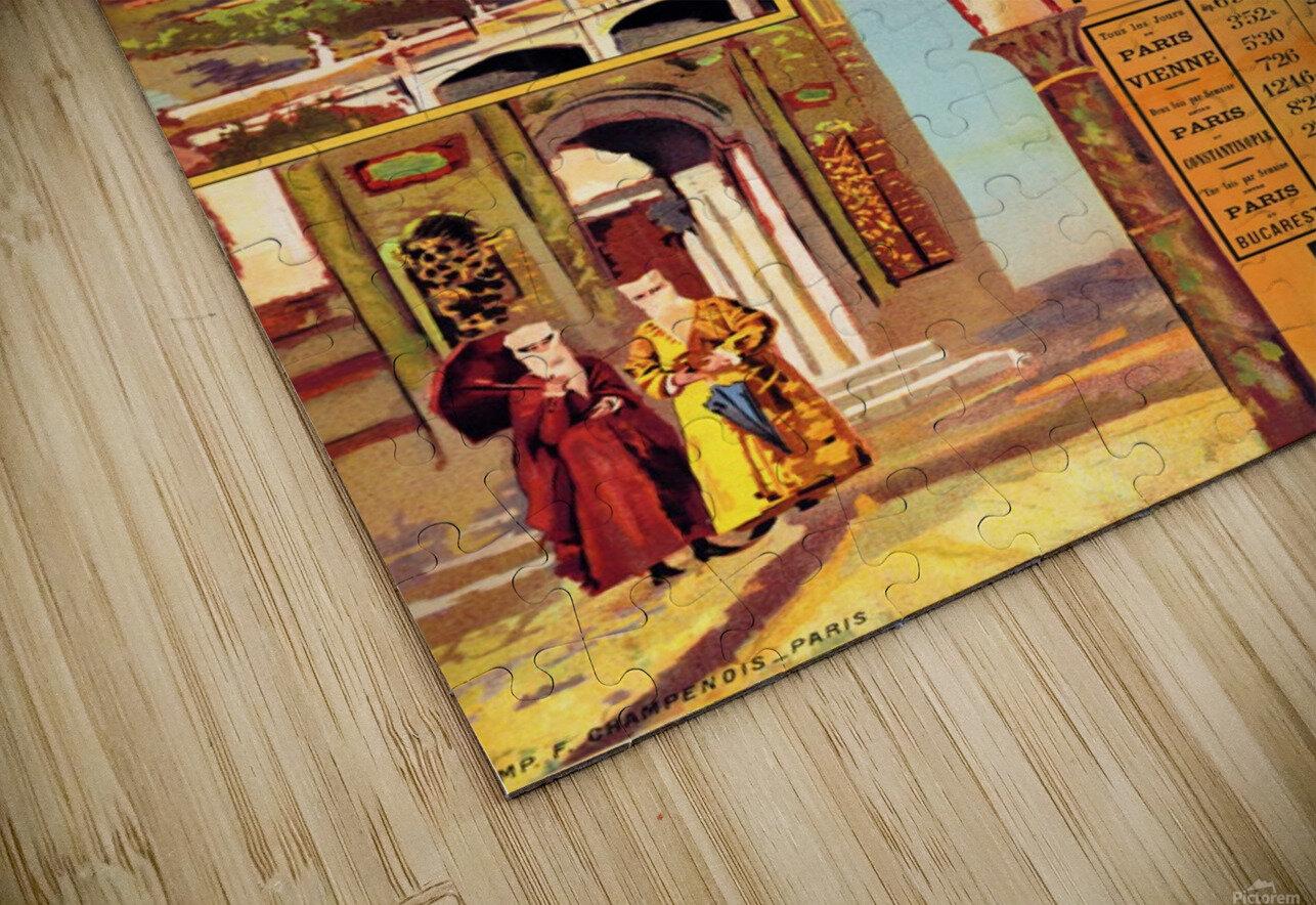 1891 Vintage Travel Poster Orient Express Ochoa y Madrazo HD Sublimation Metal print