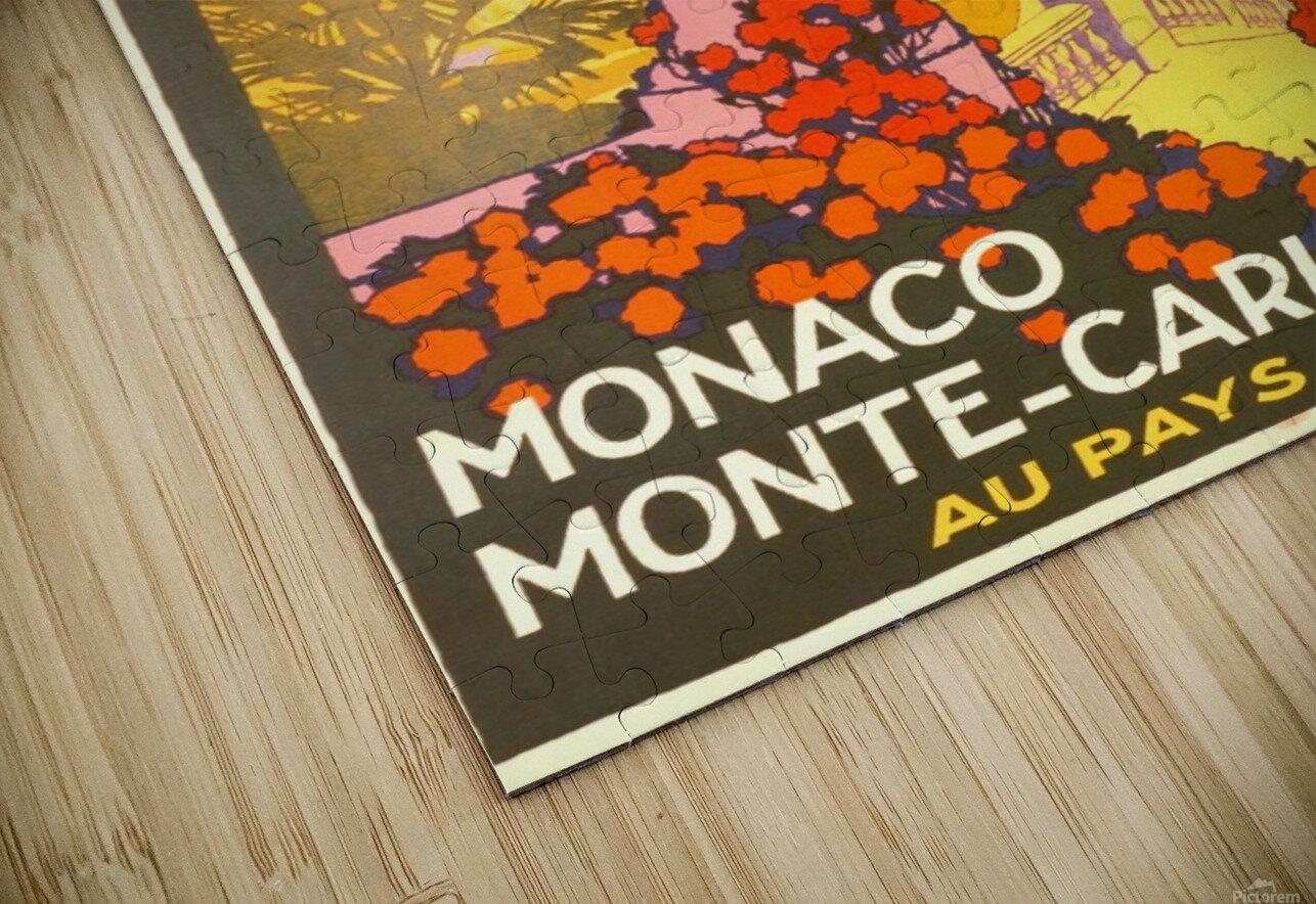 Monaco Monte Carlo 1920 vintage poster HD Sublimation Metal print