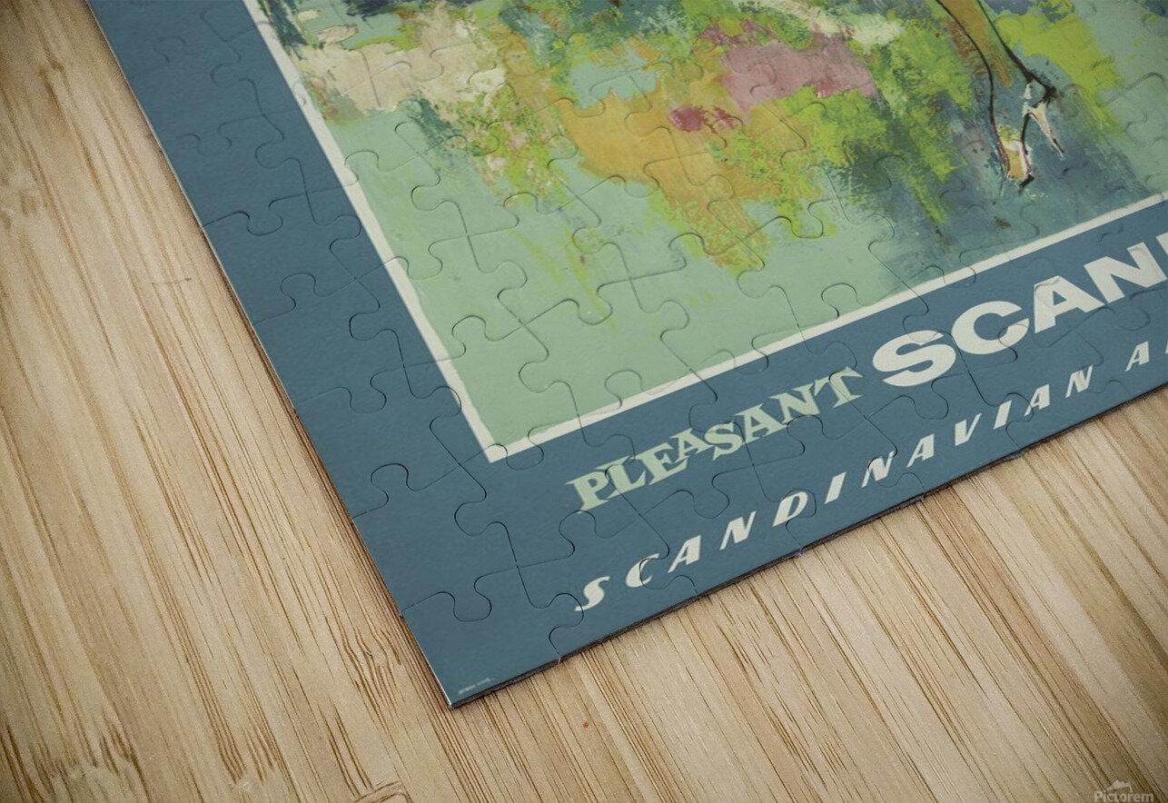 SAS Pleasant Scandinavia Airline Poster HD Sublimation Metal print