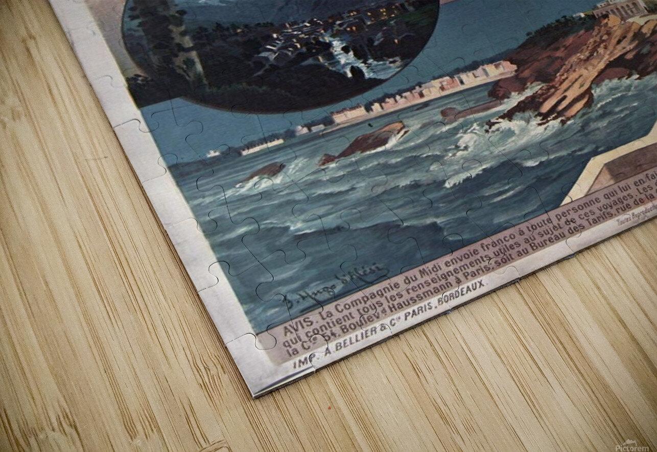 Chemins de fer du midi Pyrenees vintage poster HD Sublimation Metal print
