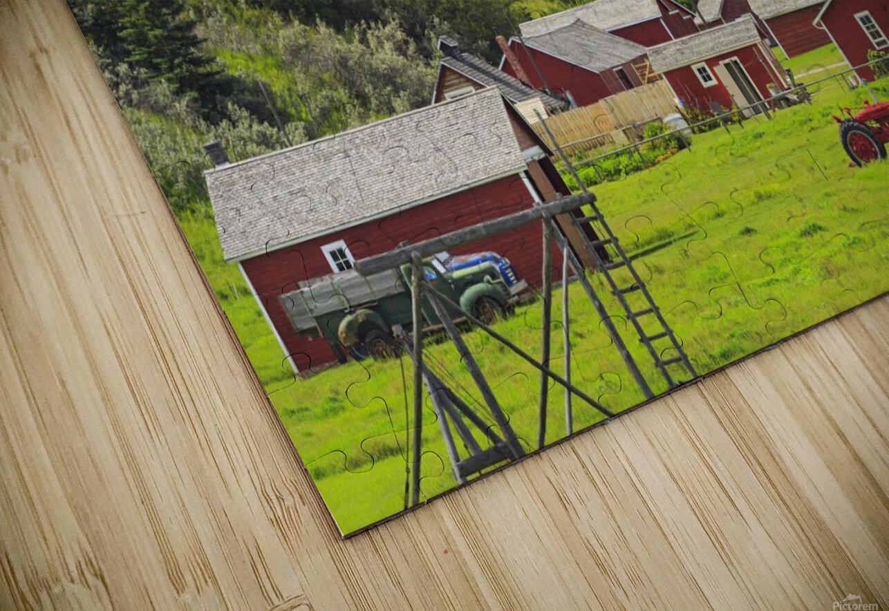 Bar U Ranch National Historic Site; Longview, Alberta, Canada HD Sublimation Metal print
