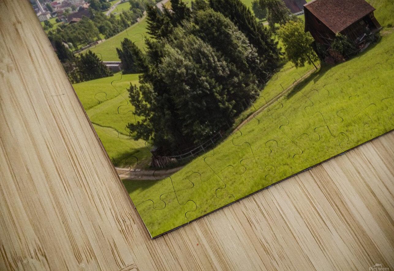 Seewen, a village on Lake Lauerz; Schwyz Canton, Switzerland HD Sublimation Metal print
