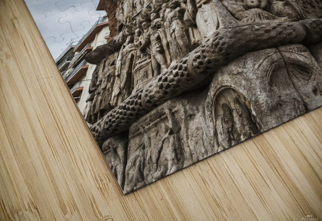 Relief on fortification wall; Thessaloniki, Greece HD Sublimation Metal print