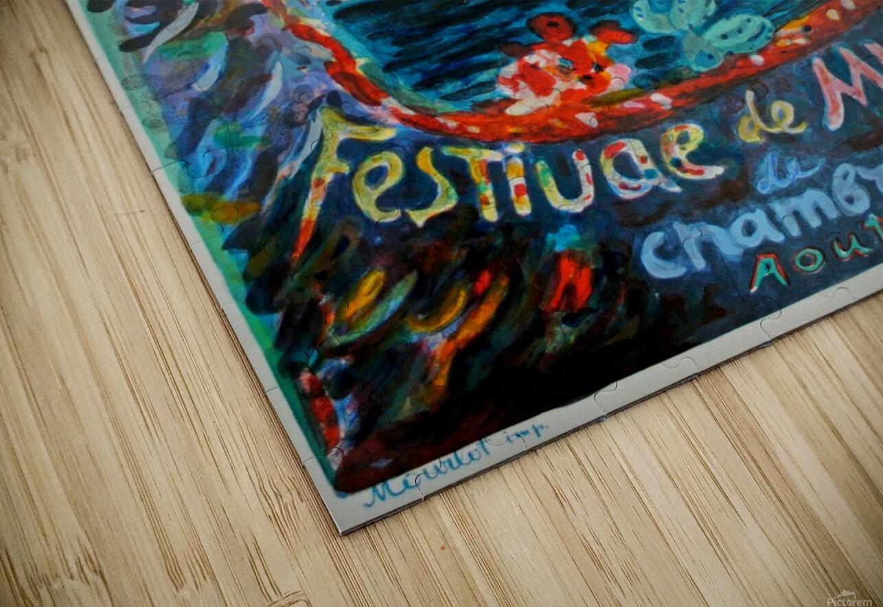 Menton Festival de Musique original advertising poster HD Sublimation Metal print