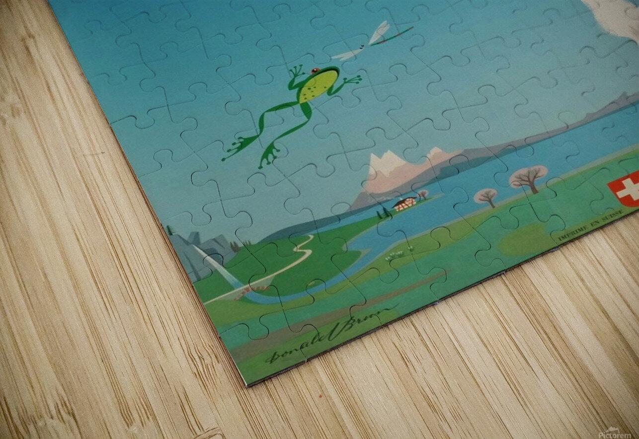 Original vintage poster Vacances en Suisse HD Sublimation Metal print