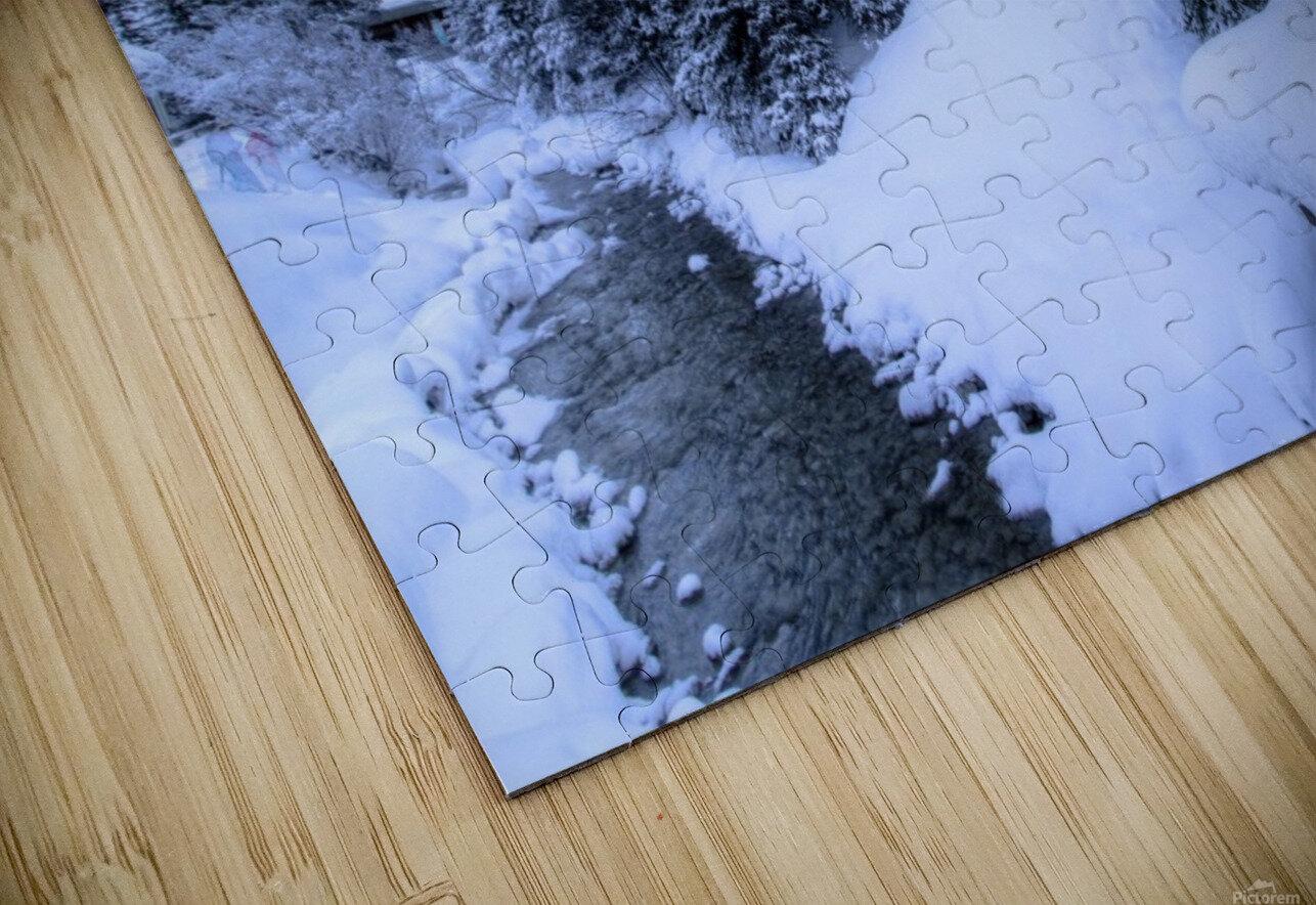 Snowy crossing HD Sublimation Metal print
