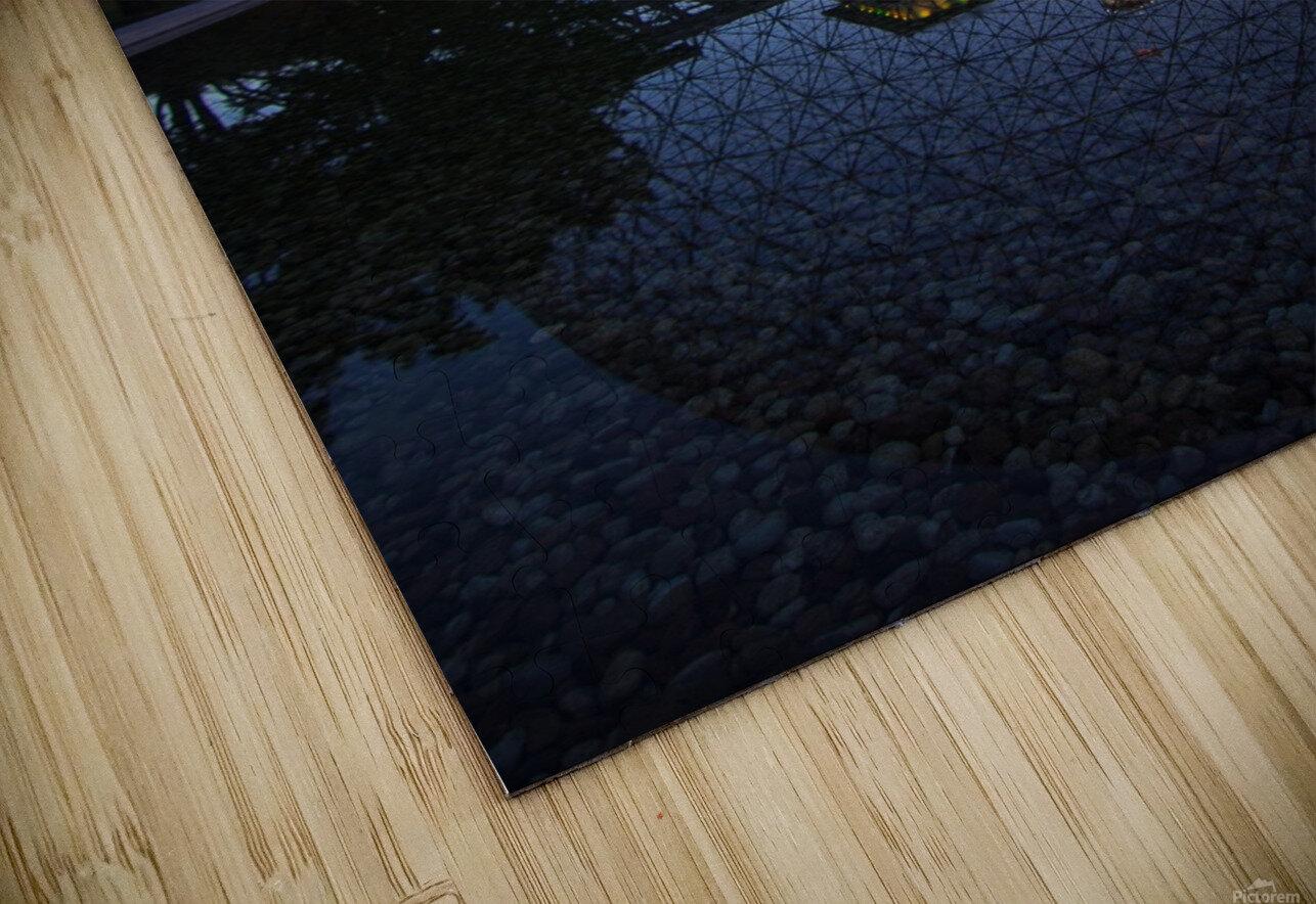 Reflections on Buckminster HD Sublimation Metal print