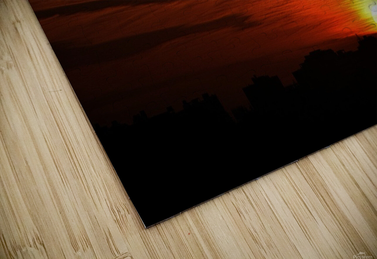Sunrise in Cairo HD Sublimation Metal print