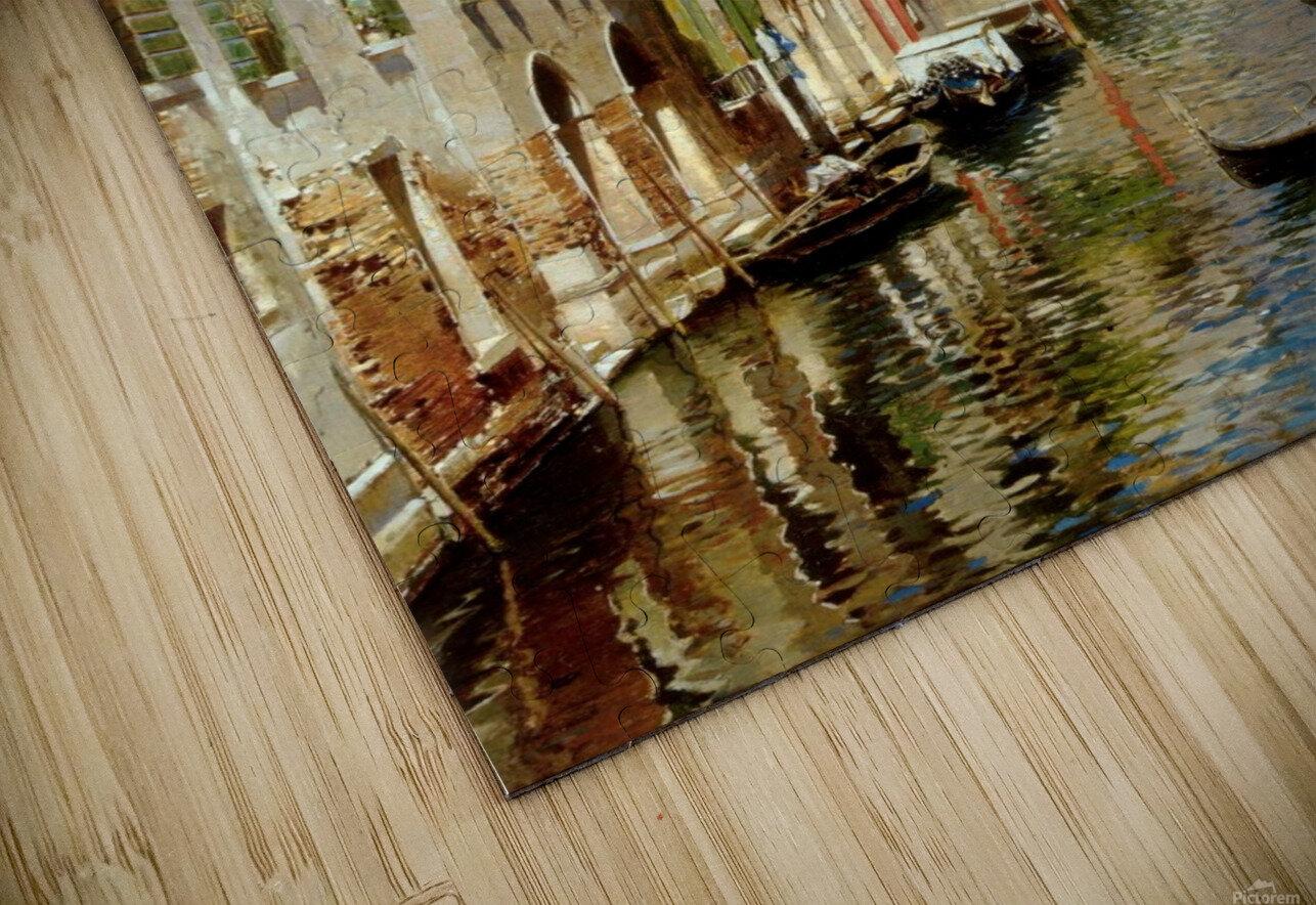 A Venetian Canal with the Scuola Grande di San Marco and Campo San Giovanni e Paolo Impression de sublimation métal HD