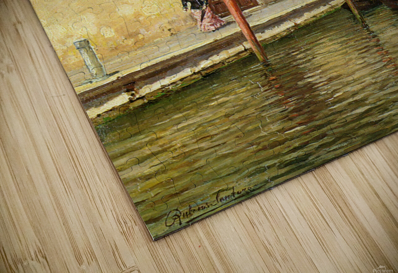 A Venetian Backwater HD Sublimation Metal print