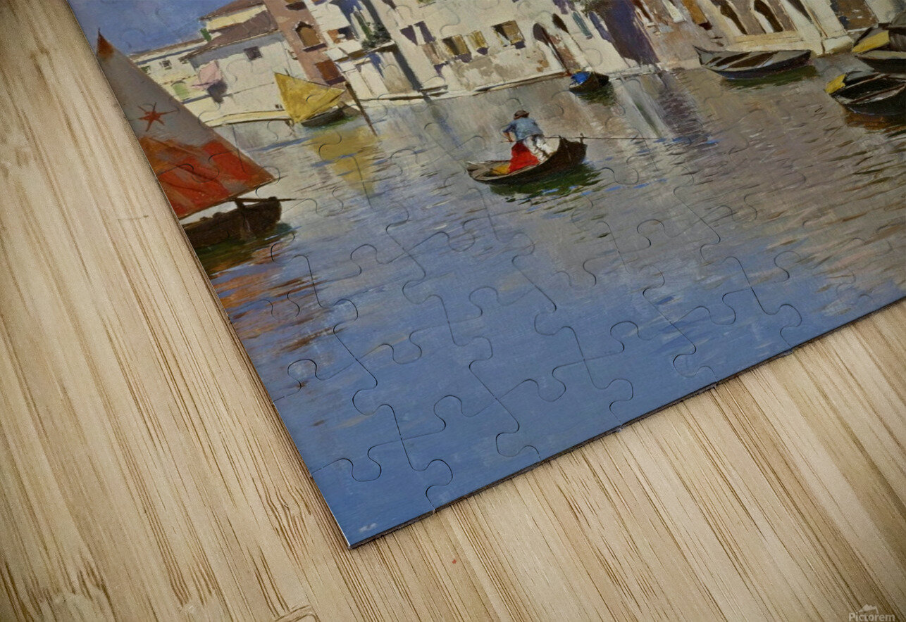 Along a Venetian canal HD Sublimation Metal print