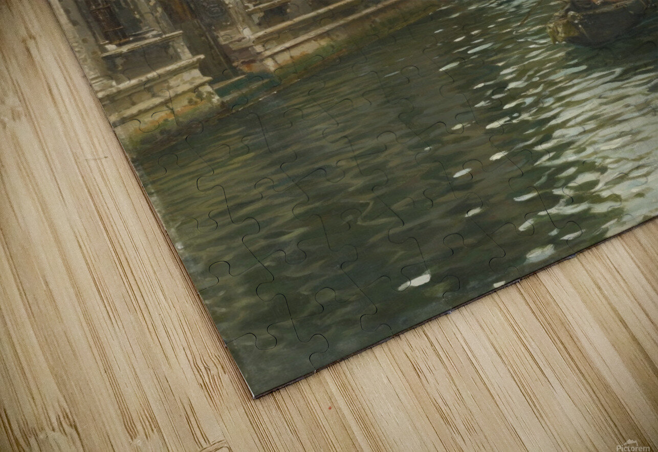 A family outing on a Venetian canal HD Sublimation Metal print