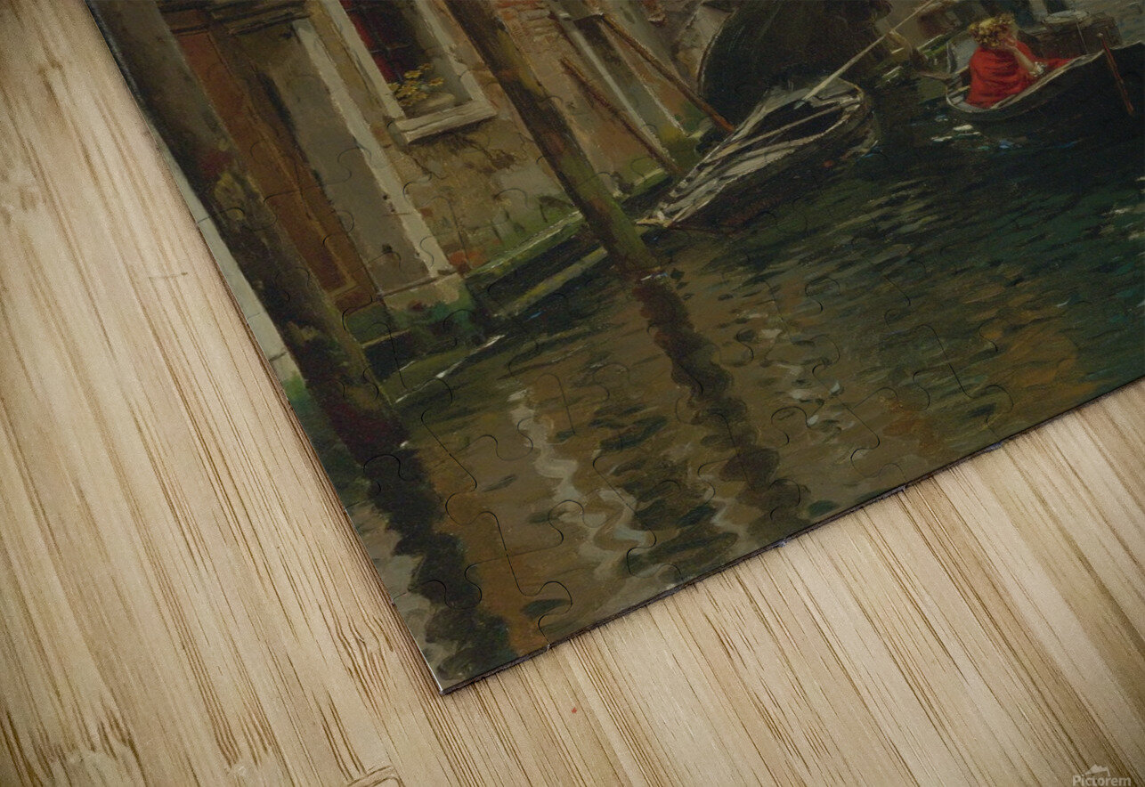 A quiet canal HD Sublimation Metal print