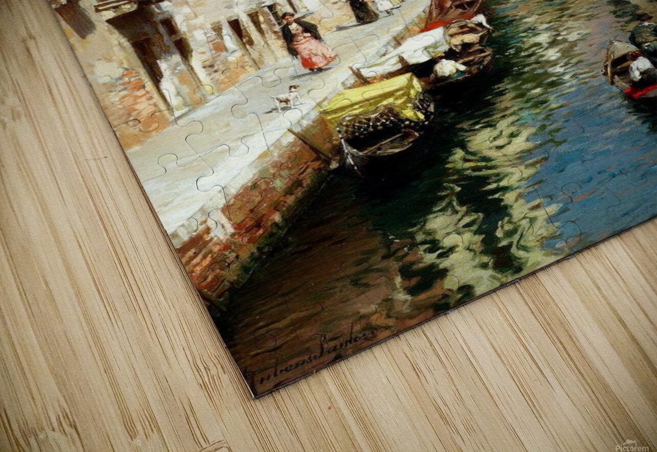 Along Venetian canal HD Sublimation Metal print