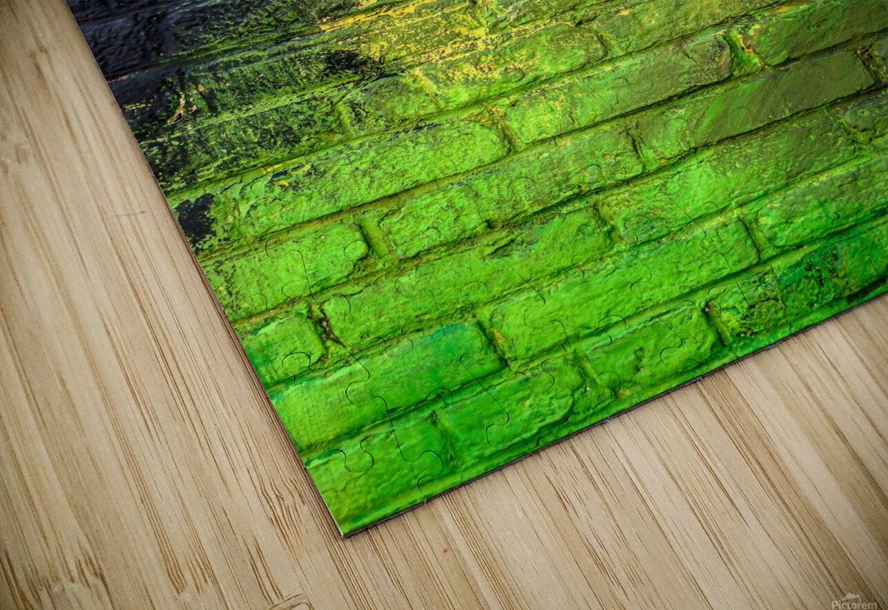 The Green Wall HD Sublimation Metal print