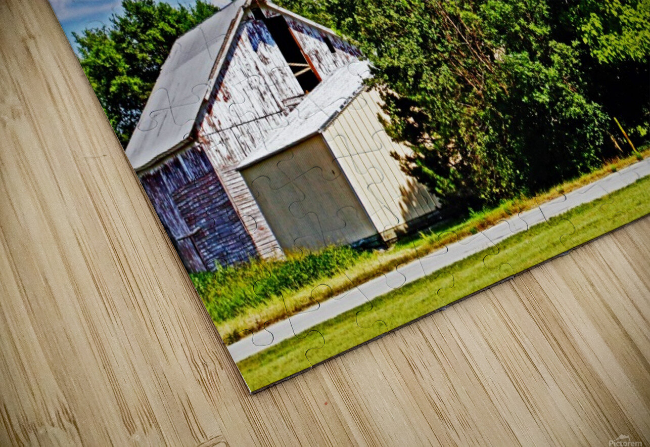 Storm Clouds Over the Barn 1 HD Sublimation Metal print
