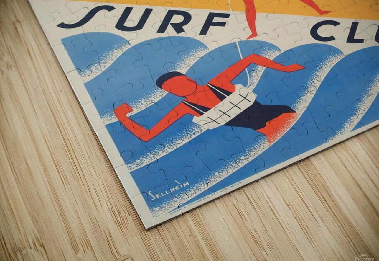 Australia Surf Club poster HD Sublimation Metal print