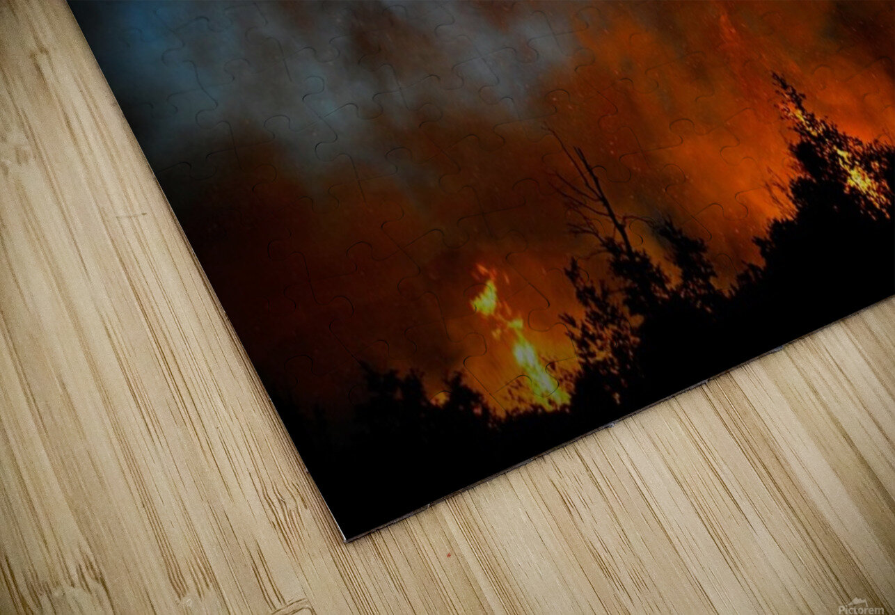 Wall of fire HD Sublimation Metal print
