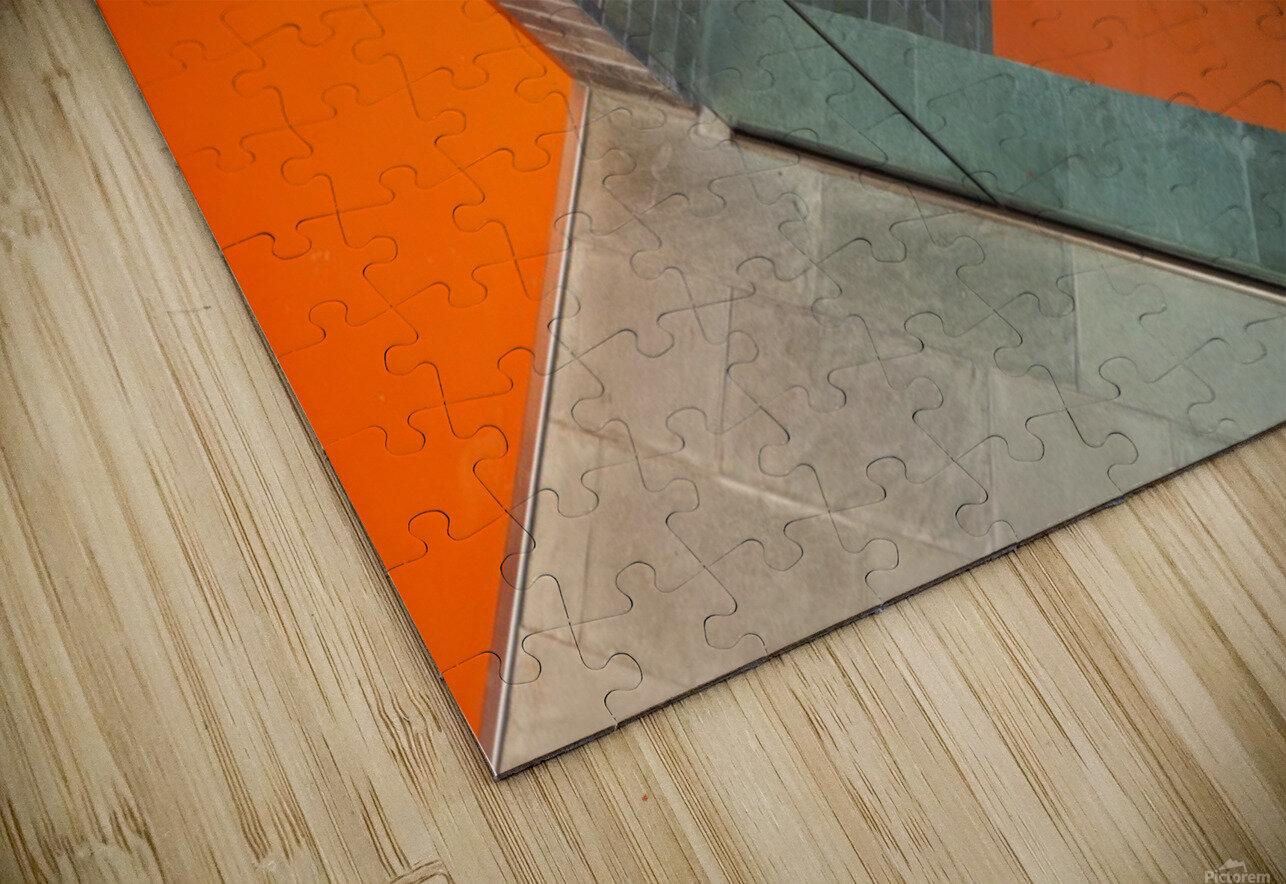 Repeat the orange HD Sublimation Metal print