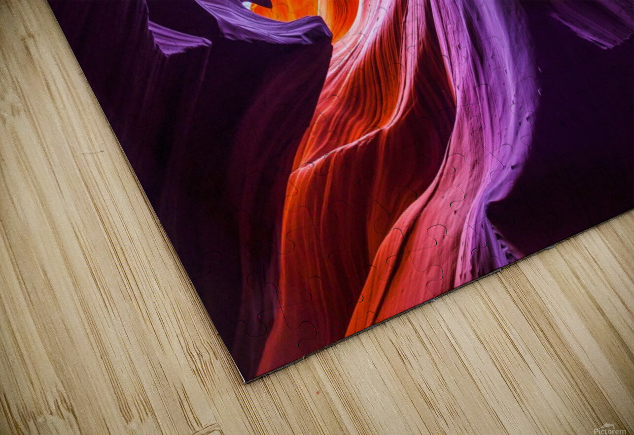 Magical Lower Antelope Canyon HD Sublimation Metal print