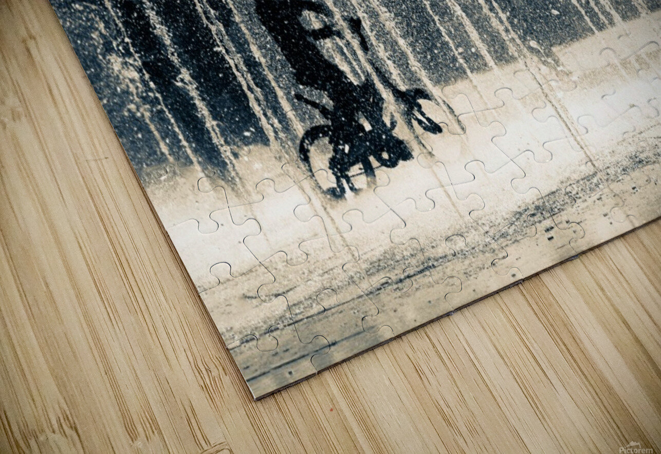 Ride through the drops HD Sublimation Metal print