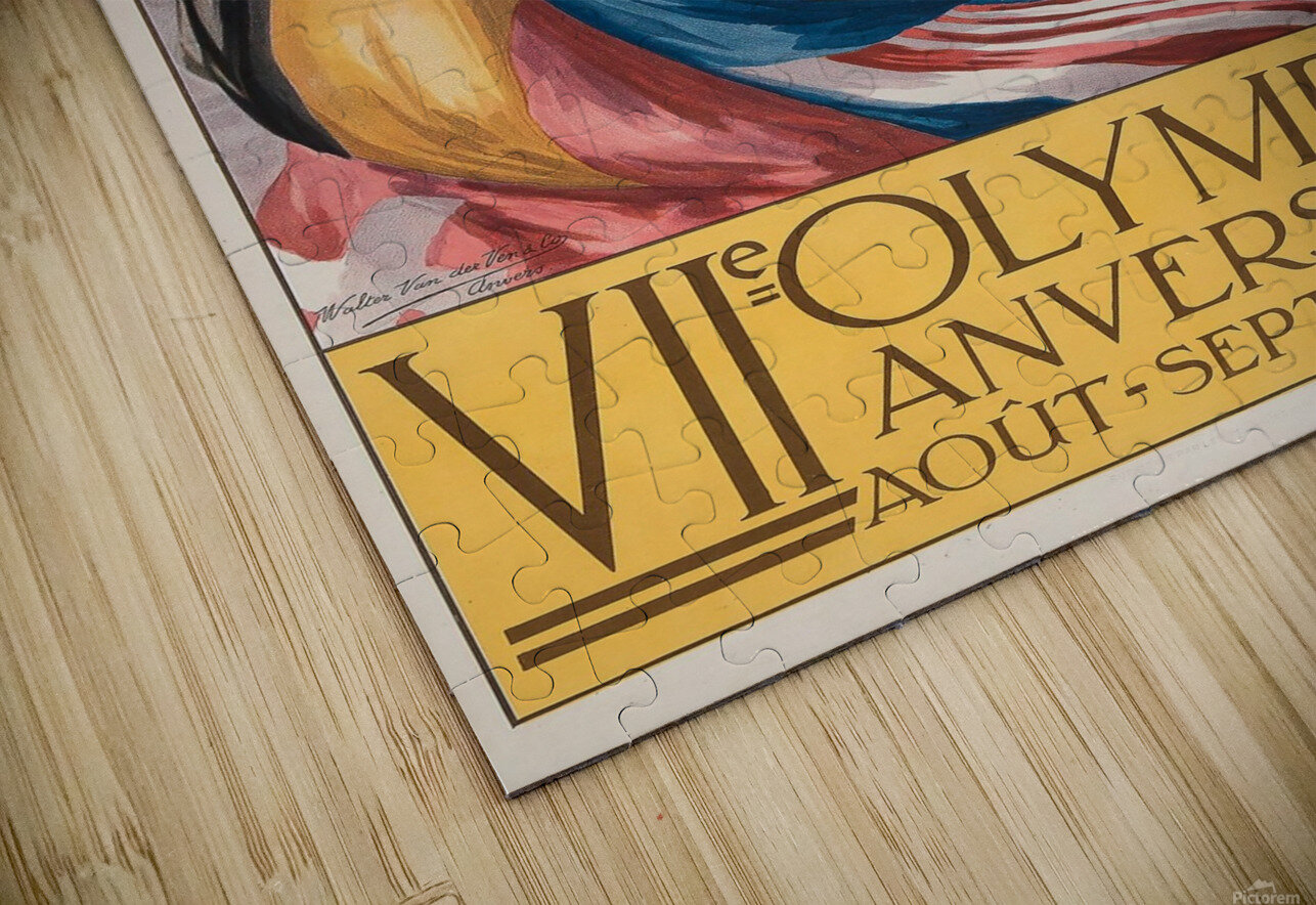 VII Olympiade, Anvers lithographic poster HD Sublimation Metal print
