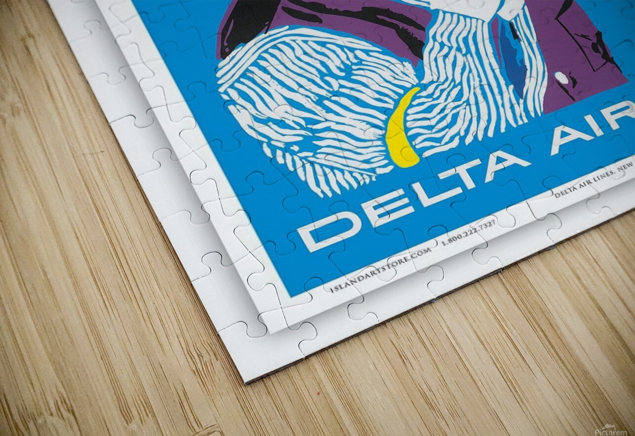 Delta Air Lines New Orleans USA Vintage Travel Poster HD Sublimation Metal print