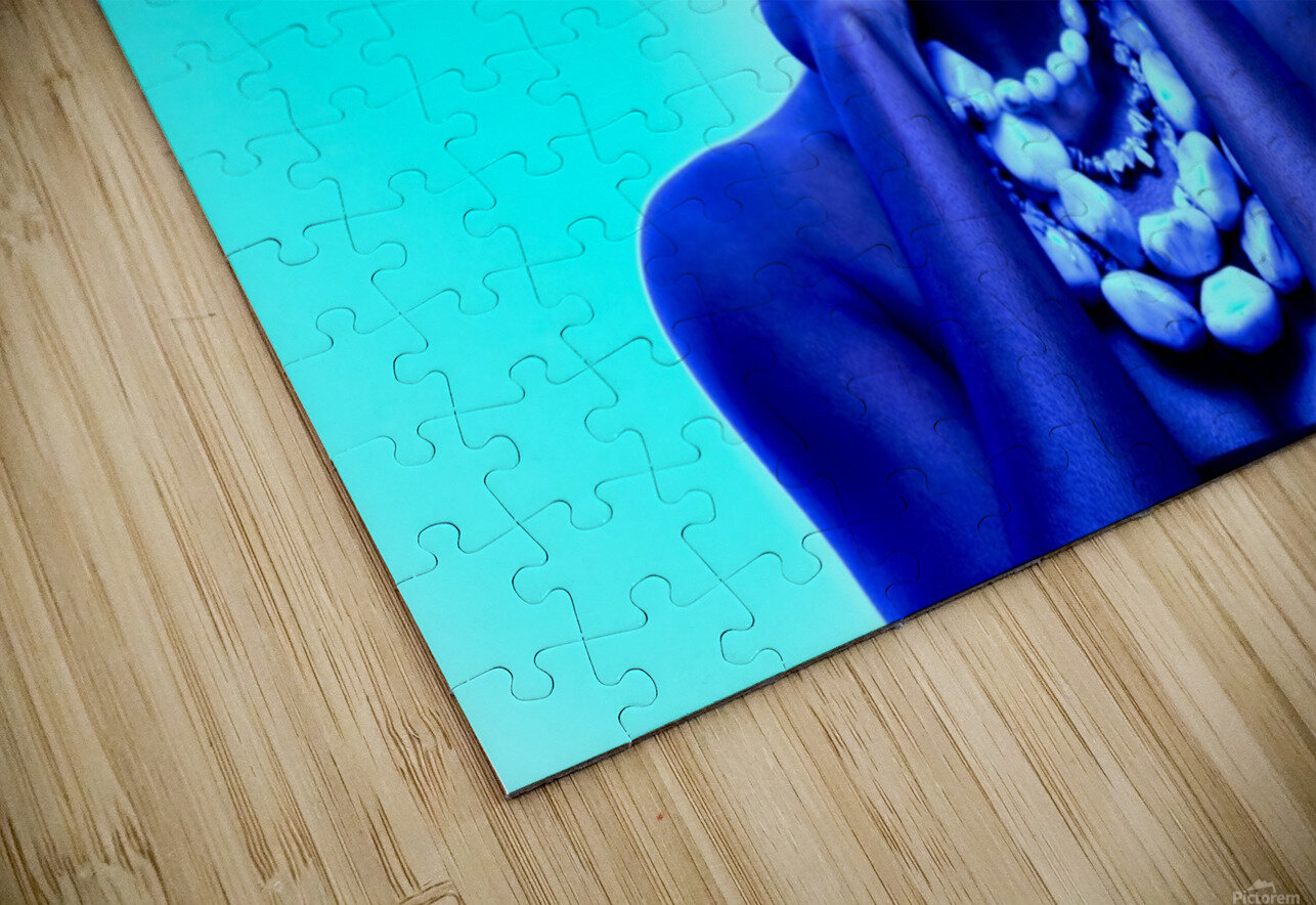 Blue Black HD Sublimation Metal print