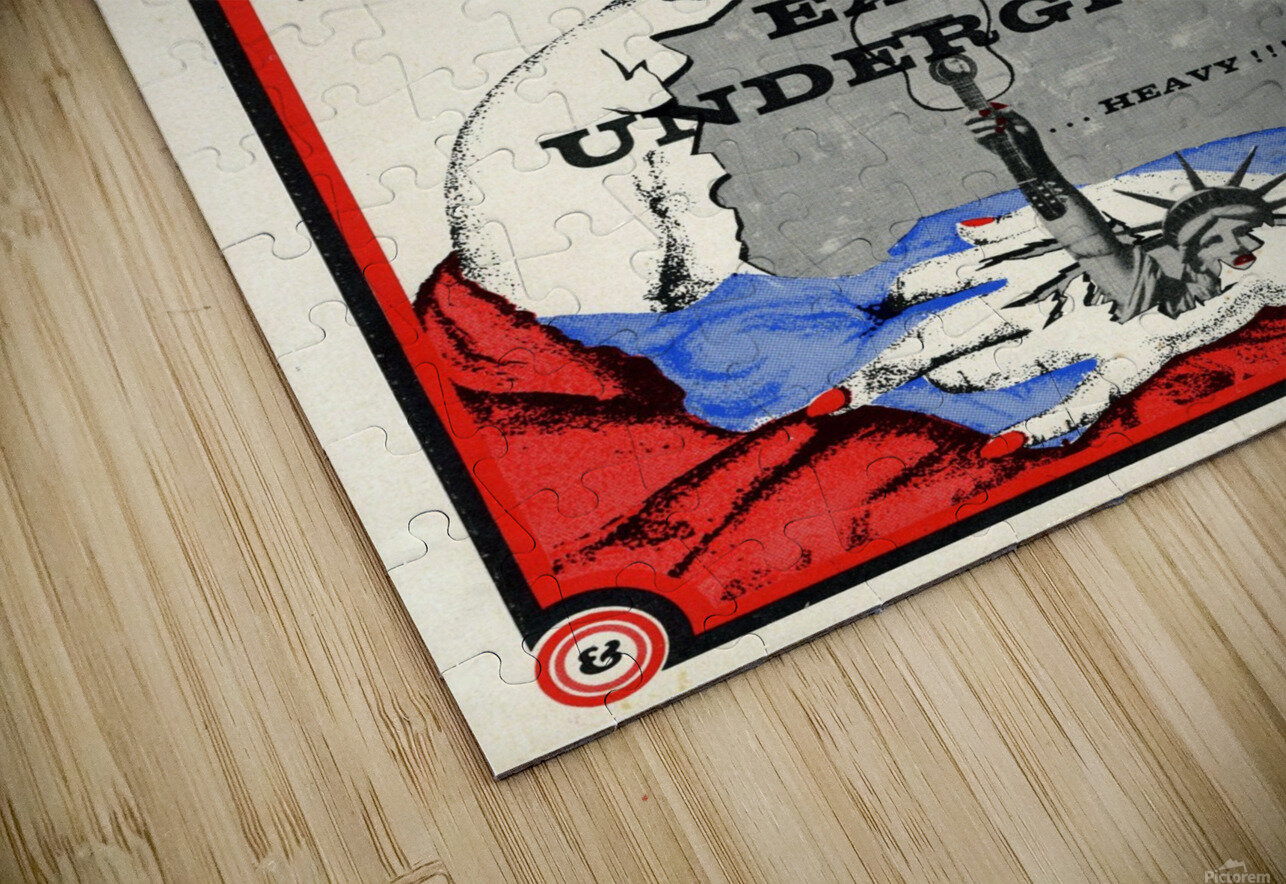 East of Underground Poster WEB USE HD Sublimation Metal print