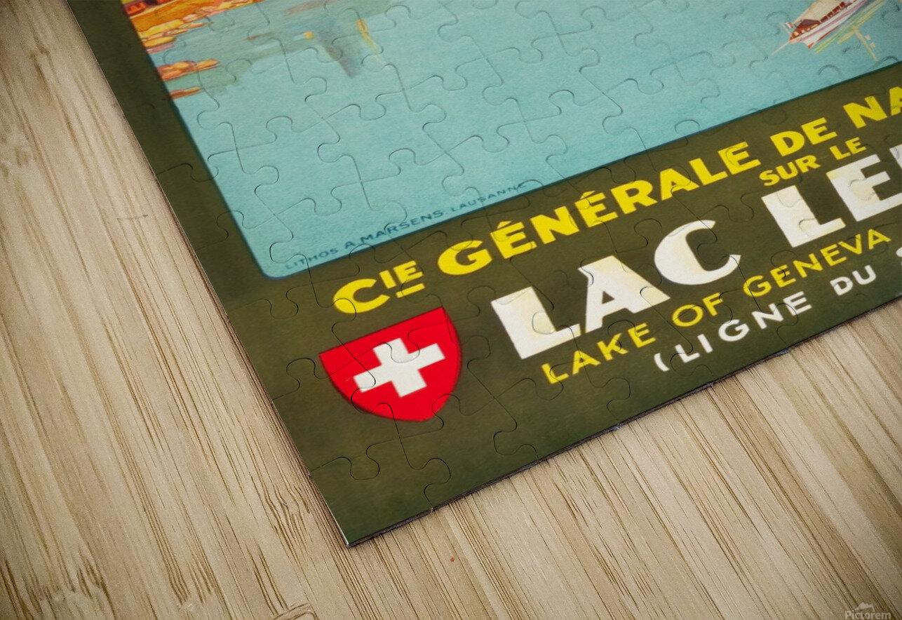 Lake of Geneva HD Sublimation Metal print