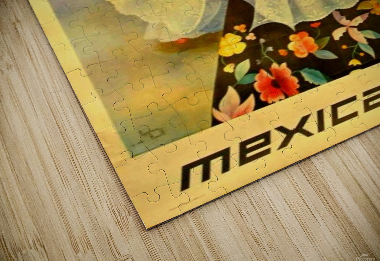Oaxaca Mexico 1969 travel poster for Mexicana Airlines HD Sublimation Metal print