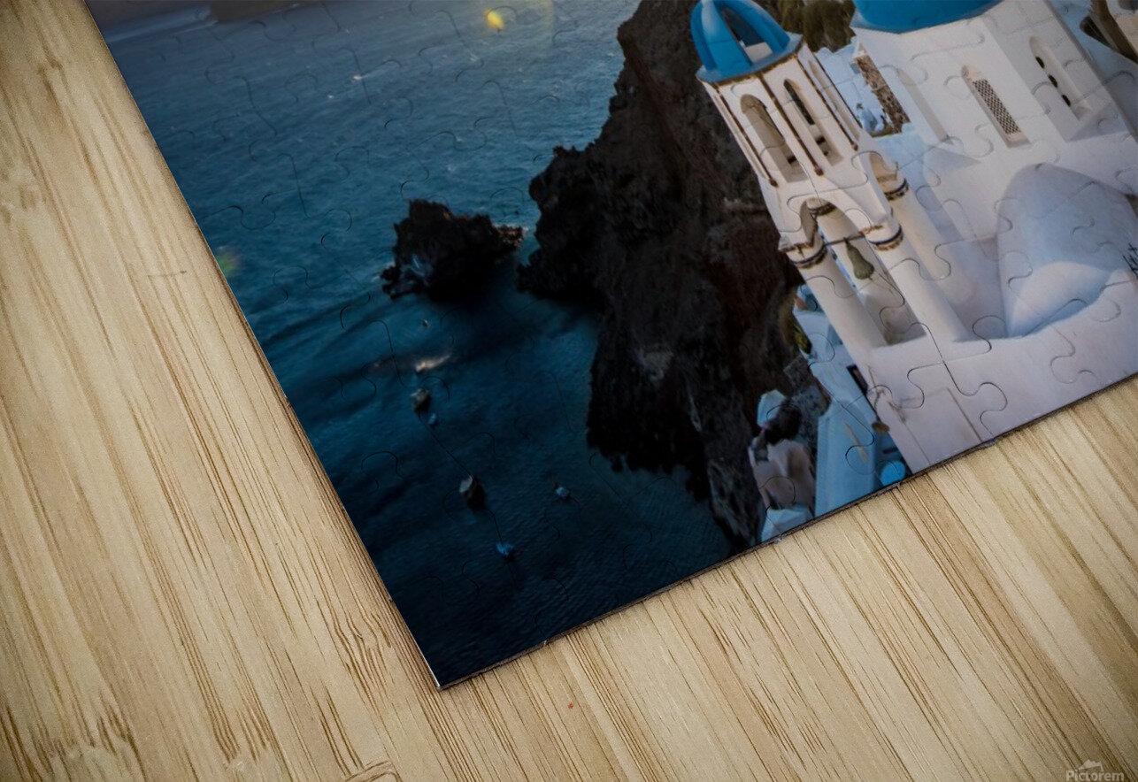 Coastal Oia HD Sublimation Metal print