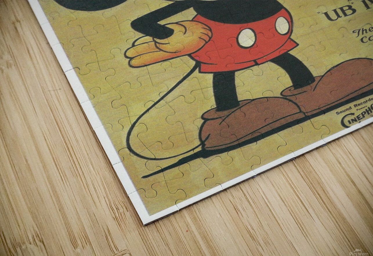 Mickey Mouse Sound Cartoon HD Sublimation Metal print