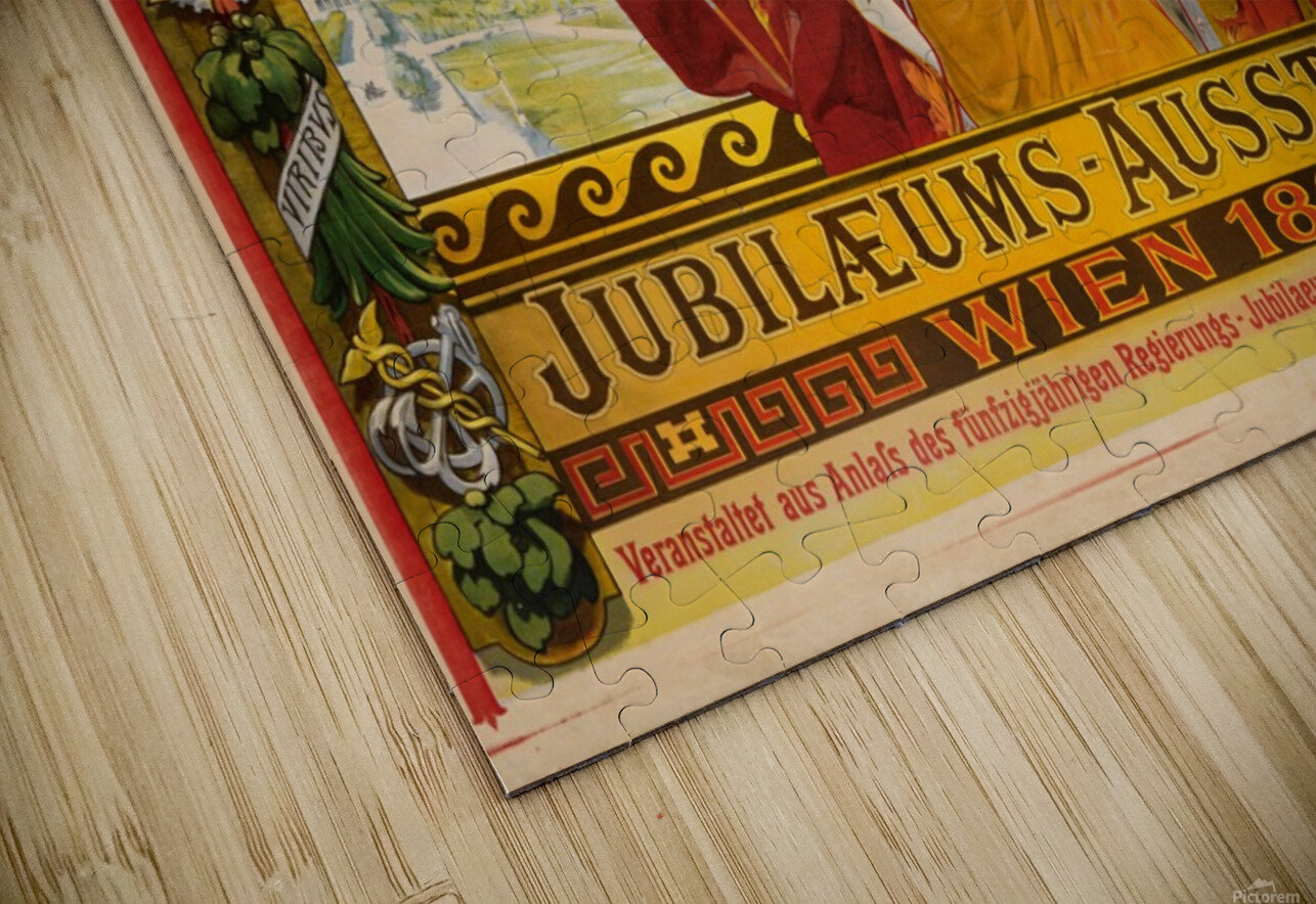 Jubilaeums Austellung Wien 1898 HD Sublimation Metal print